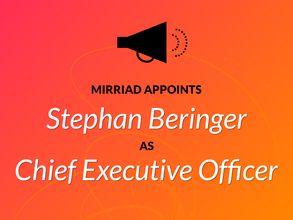 Stephan Beringer Mirriad as the leading in-content advertising solution has the creative solution for both brands and content creators