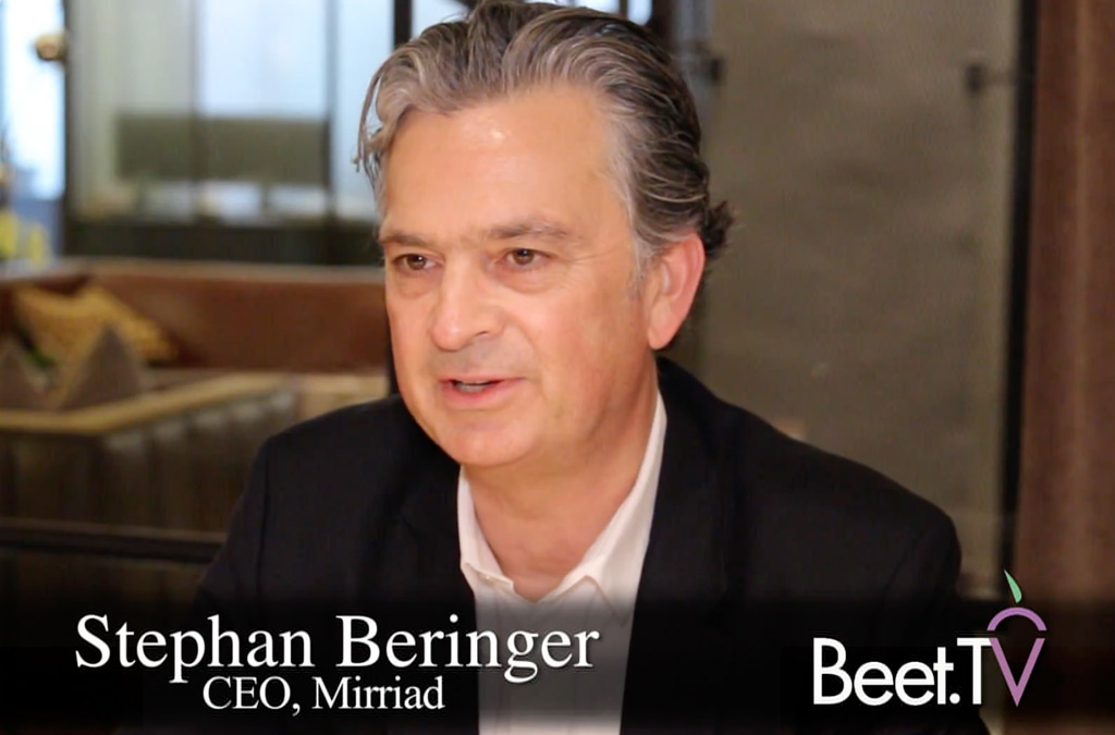 In-Video Brand Insertion Will Soon Be Viewer-Targeted: Mirriad's Beringer