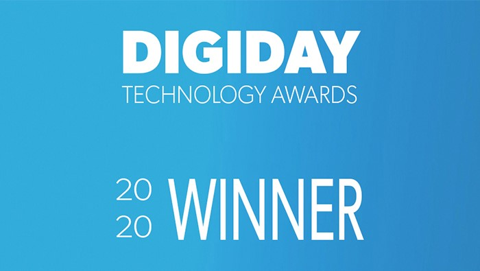 Digiday Tech Awards 2020 name Mirriad Best Native Advertising Platform
